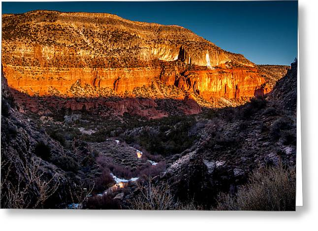 Canyon Sunset Greeting Card
