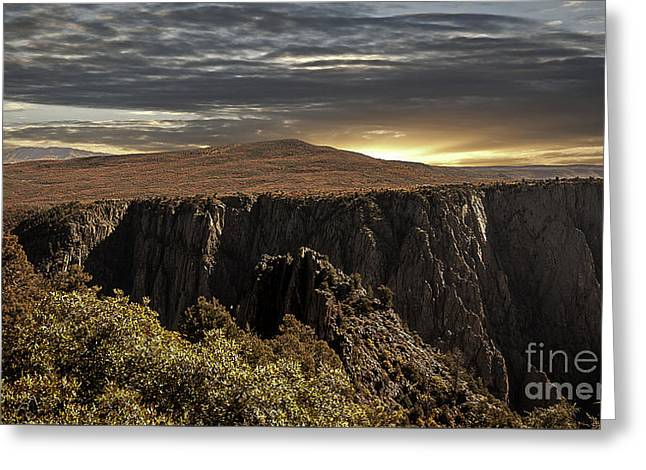 Canyon Twilight Greeting Card