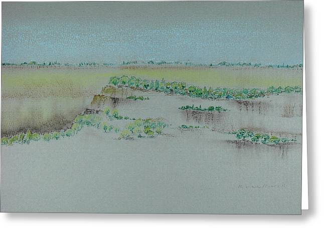 Greeting Card featuring the pastel Canyon View by Michele Myers