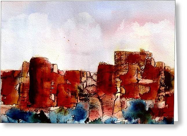 Greeting Card featuring the painting Canyonlands by Anne Duke