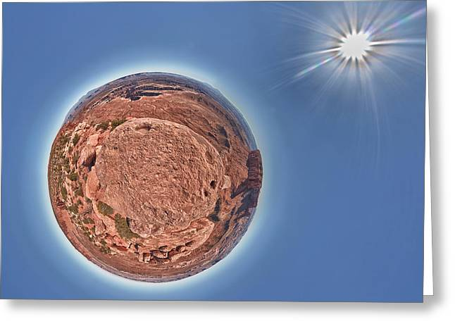 Canyonlands Little Planet Greeting Card by Juan Carlos Diaz Parra
