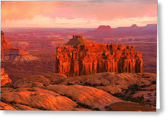 Canyonlands National Park Ut Usa Greeting Card by Panoramic Images