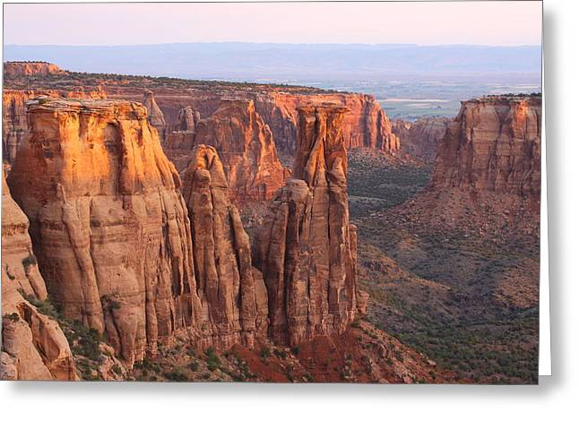 Canyons And Monoliths Greeting Card by Eric Glaser