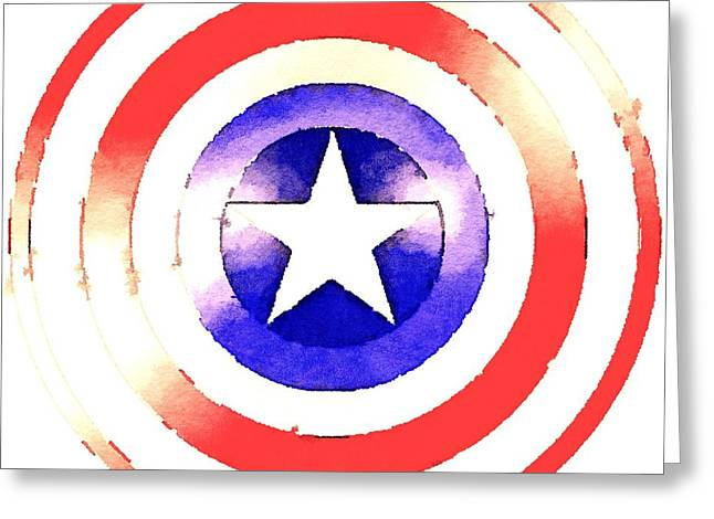 Cap Am Shield Greeting Card