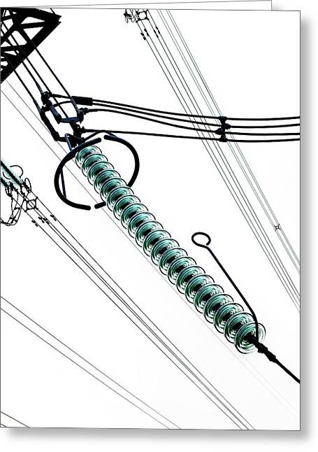 Cap And Pin Glass Insulator String Greeting Card