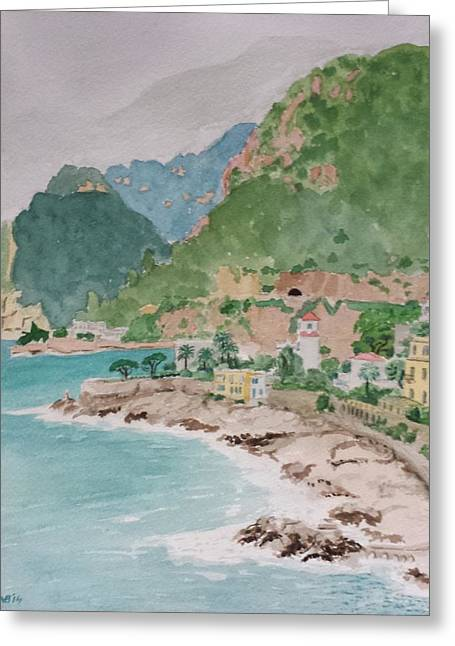 Cap D'ail After The Storm Greeting Card