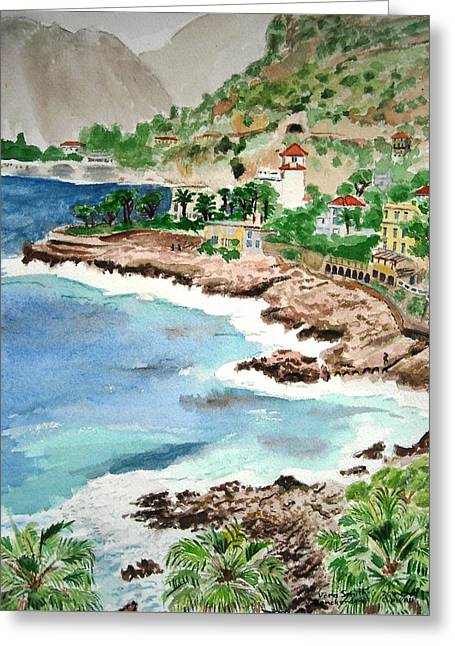 Cap D'ail On A Rainy Day Greeting Card