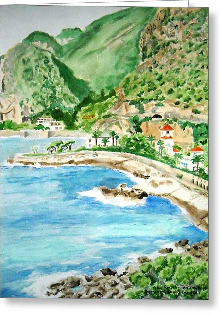 Cap D'ail On A Sunny Day  Greeting Card