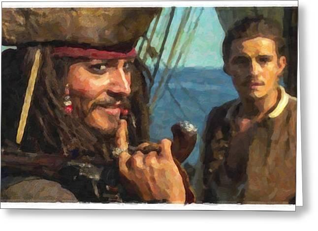 Cap. Jack Sparrow Greeting Card