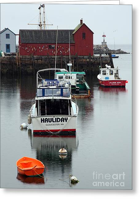 Cape Ann Red Fishing Shack Greeting Card by Christiane Schulze Art And Photography