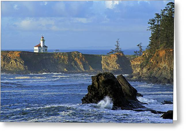 Cape Arago Lighthouse Greeting Card