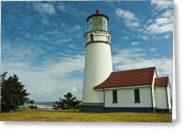 Cape Blanco Lighthouse, Cape Blanco Greeting Card