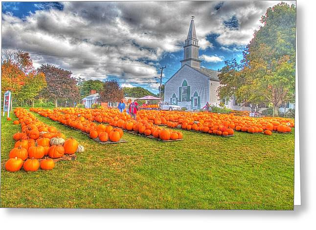 Cape Cod Americana   Fall Bounty On Cape Cod  Greeting Card by Constantine Gregory