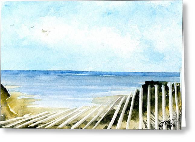 Cape Cod Bay Study #2 Greeting Card by Jennifer  Creech