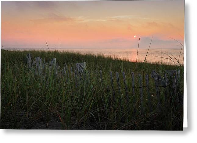 Provincetown Greeting Cards - Cape Cod Bay Sunset Greeting Card by Bill  Wakeley