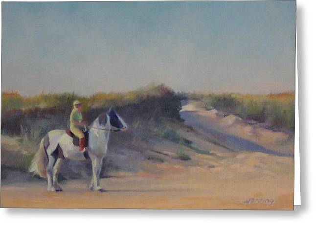 Cape Cod Beach Rider Greeting Card by JT Harding