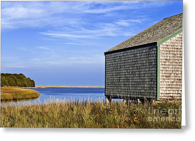 Cape Cod Boathouse Greeting Card