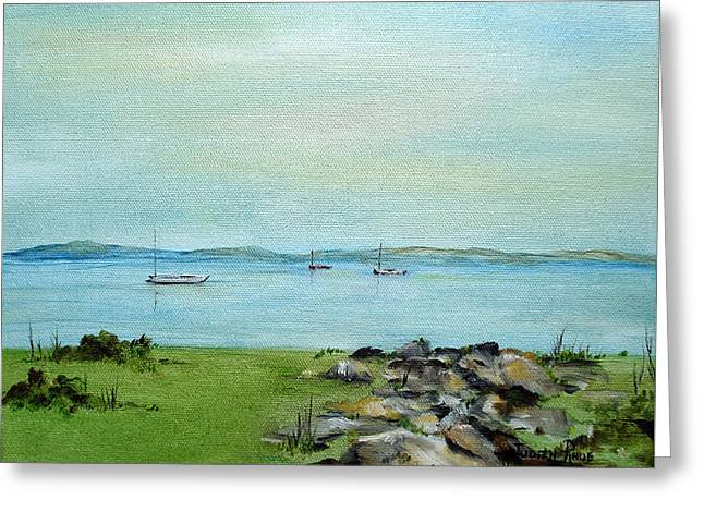 Cape Cod  Boats Greeting Card