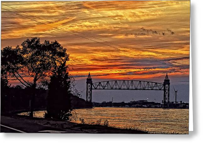 Cape Cod Canal Sunset  Greeting Card by Constantine Gregory
