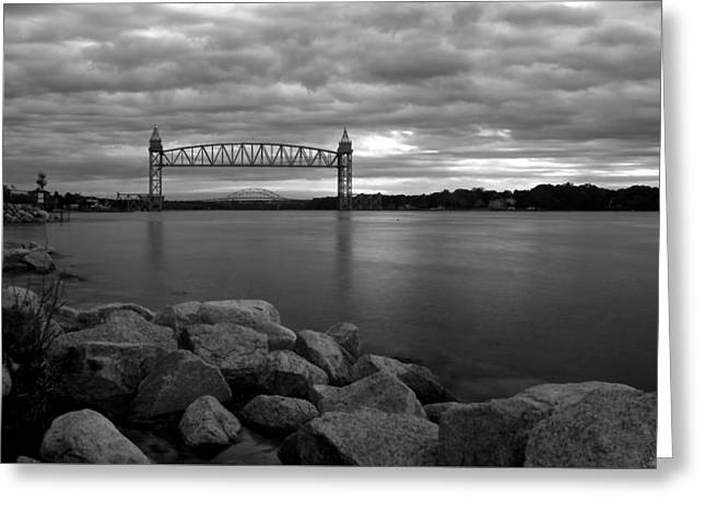 Greeting Card featuring the photograph Cape Cod Canal Train Bridge by Amazing Jules