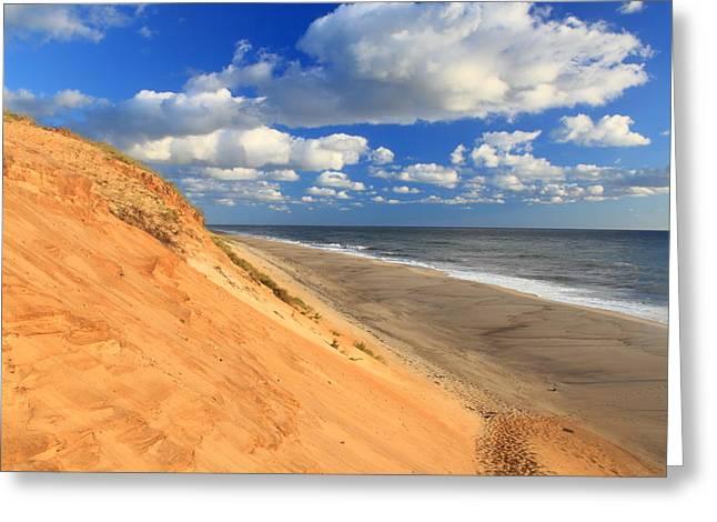Cape Cod Colorful Dune White Crest Ocean Beach Greeting Card
