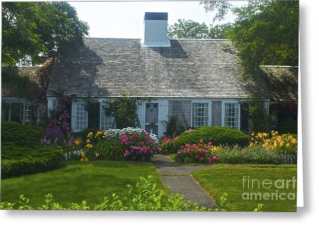 Cape Cod Cottage Greeting Card by Amazing Jules