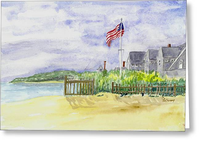 Massachusetts -cape Cod Cottages Greeting Card
