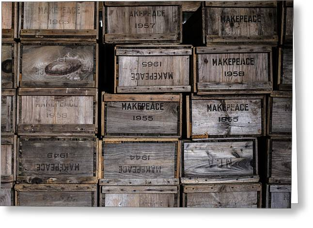 Cape Cod Cranberry Crates Greeting Card by Andrew Pacheco