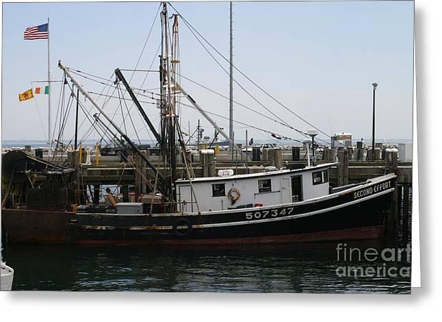 Cape Cod Fishing Boat Greeting Card