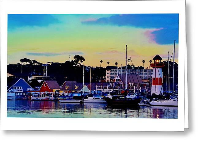 Cape Cod Harbor Greeting Card by Sharon  Lavoie