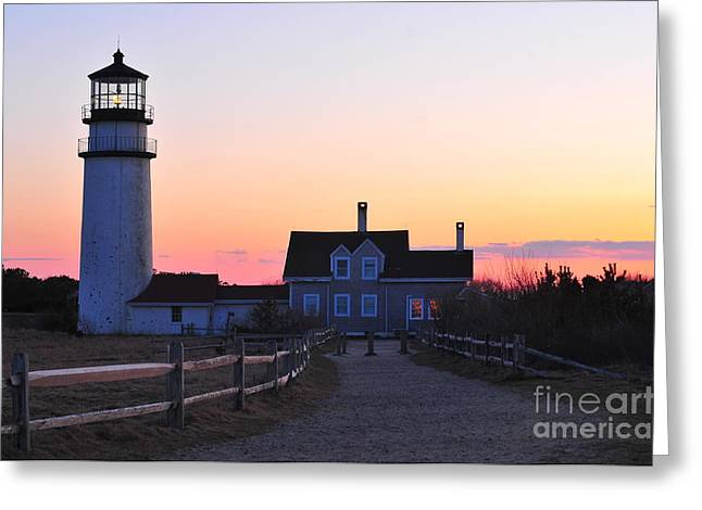 Cape Cod Light Greeting Card by Catherine Reusch Daley