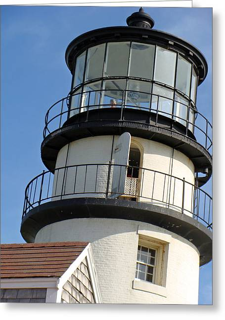 Greeting Card featuring the photograph Cape Cod Lighthouse by Ira Shander