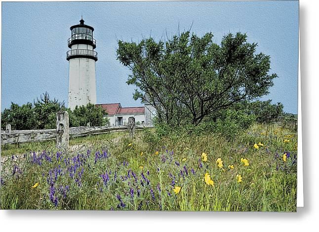 Cape Cod Lighthouse Greeting Card by John Haldane