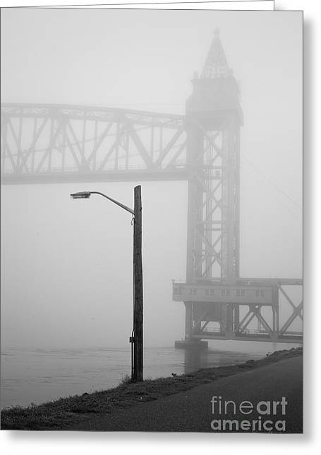 Cape Cod Railroad Bridge No. 3 Greeting Card by David Gordon