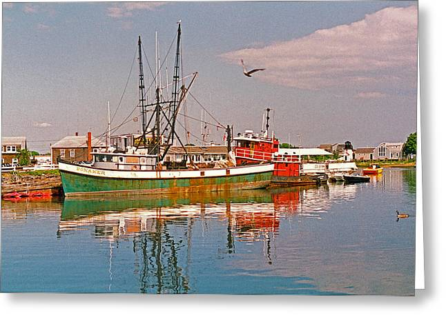 Cape Cod Scenic Greeting Card by Suzanne Gaff