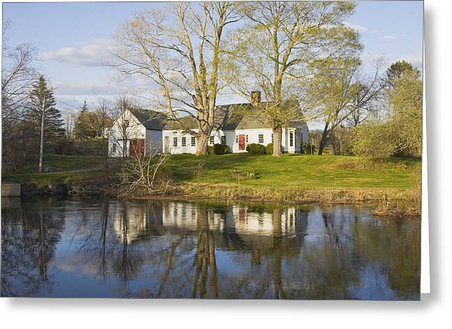 Cape Cod Style House Bristol Maine Greeting Card
