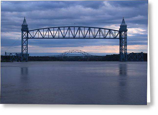 Greeting Card featuring the photograph Cape Cod Train Bridge by Amazing Jules