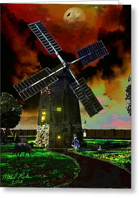 Cape Cod Windmill Greeting Card by Michael Rucker