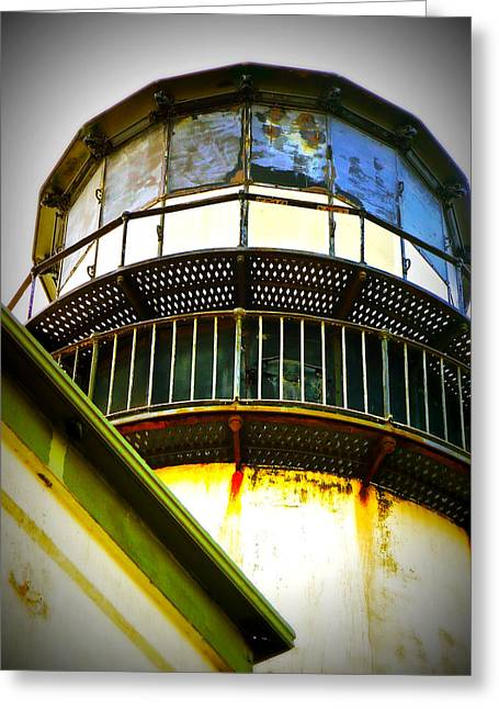 Cape D Lantern Tower Vertical Greeting Card by Pamela Patch