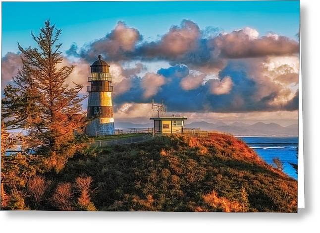 Cape Disappointment Light House Greeting Card