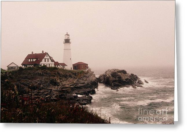 Cape Elizabeth In The Mist Greeting Card