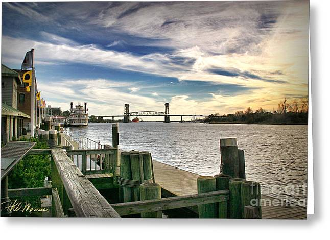 Greeting Card featuring the photograph Cape Fear Riverwalk by Phil Mancuso