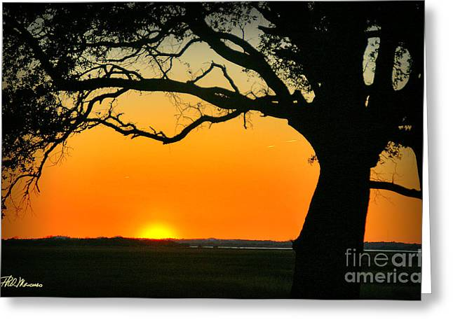 Cape Fear Sunset 2 Greeting Card