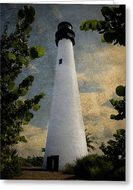 Cape Florida Lighthouse 1 Greeting Card by Rudy Umans
