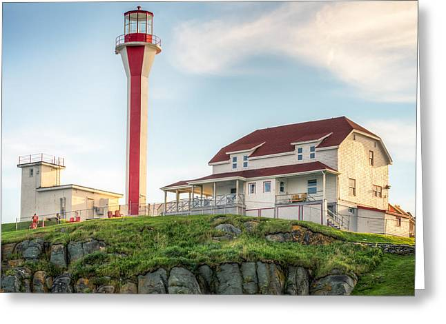 Greeting Card featuring the photograph Cape Forchu Lighthouse by Garvin Hunter