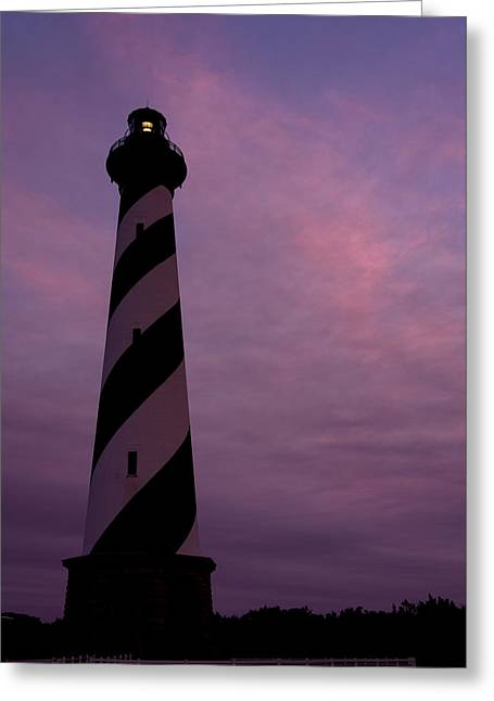 Cape Hatteras Lighthouse At Dusk Greeting Card by Jim Baker