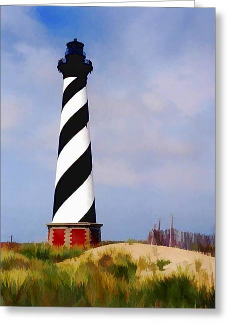 Cape Hatteras Lighthouse Greeting Card by Elaine Plesser