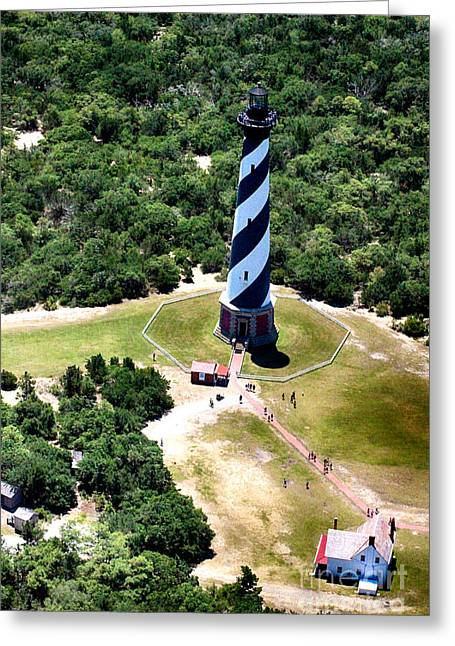 Cape Hatteras Lighthouse From Above Greeting Card by Tony Cooper