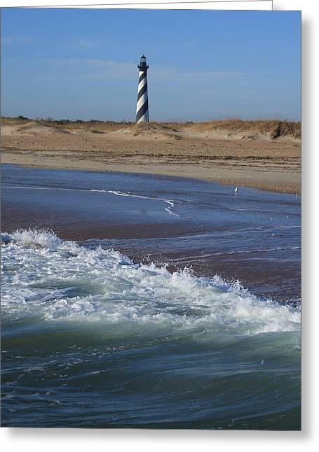 Cape Hatteras Lighthouse Nc Greeting Card by Mountains to the Sea Photo