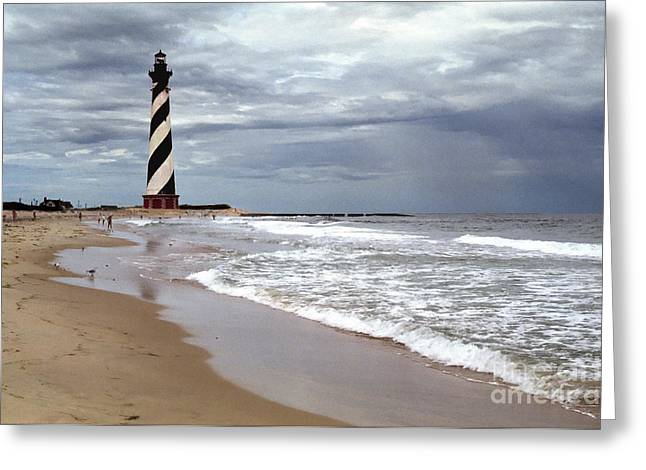 Greeting Card featuring the photograph Cape Hatteras Lighthouse by Tom Brickhouse
